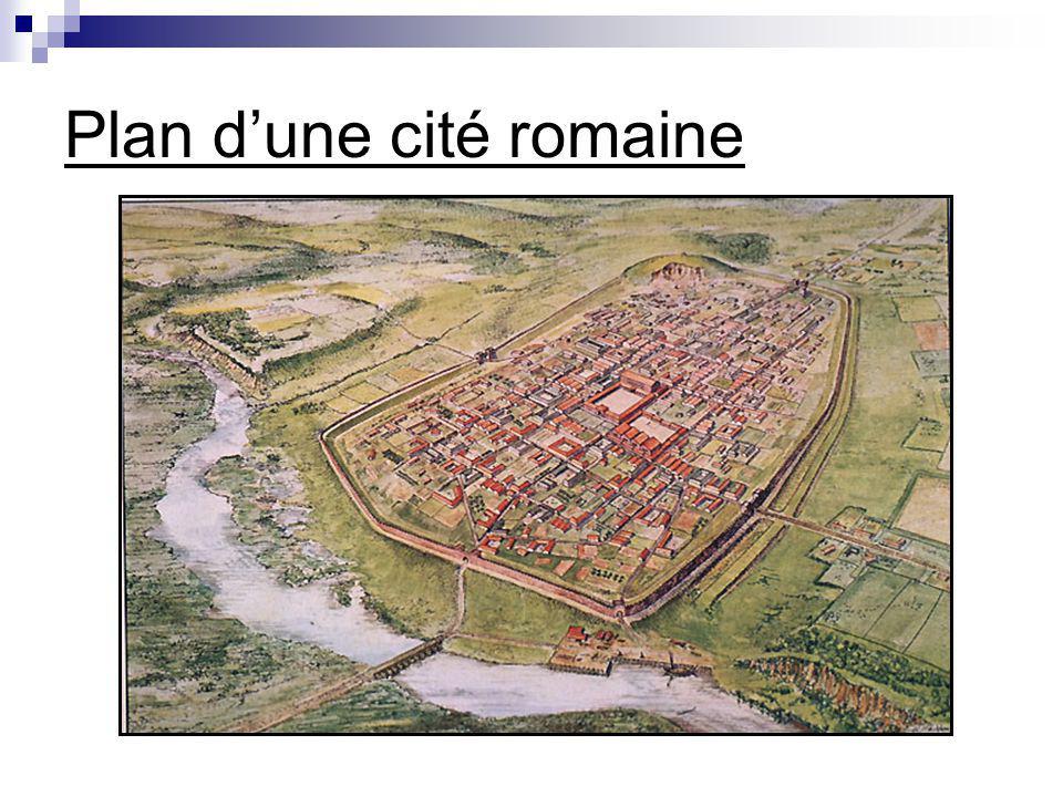 Plan dune cité romaine