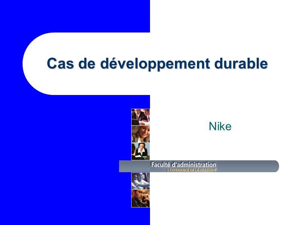 Cas de développement durable Nike