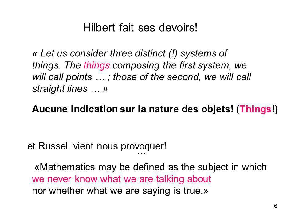 37 Exemple 2 Recherche de colinéations Nouveau mode daction Lalgèbre remplace la combinatoire géométrique Exemple 1 Exemple 3