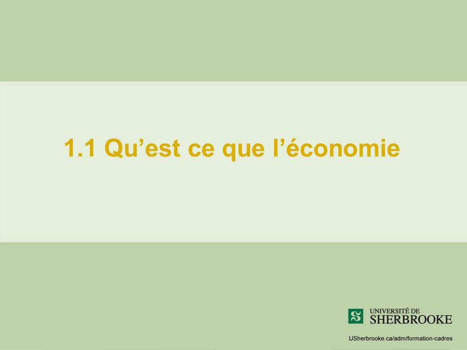 1.1 Quest ce que léconomie