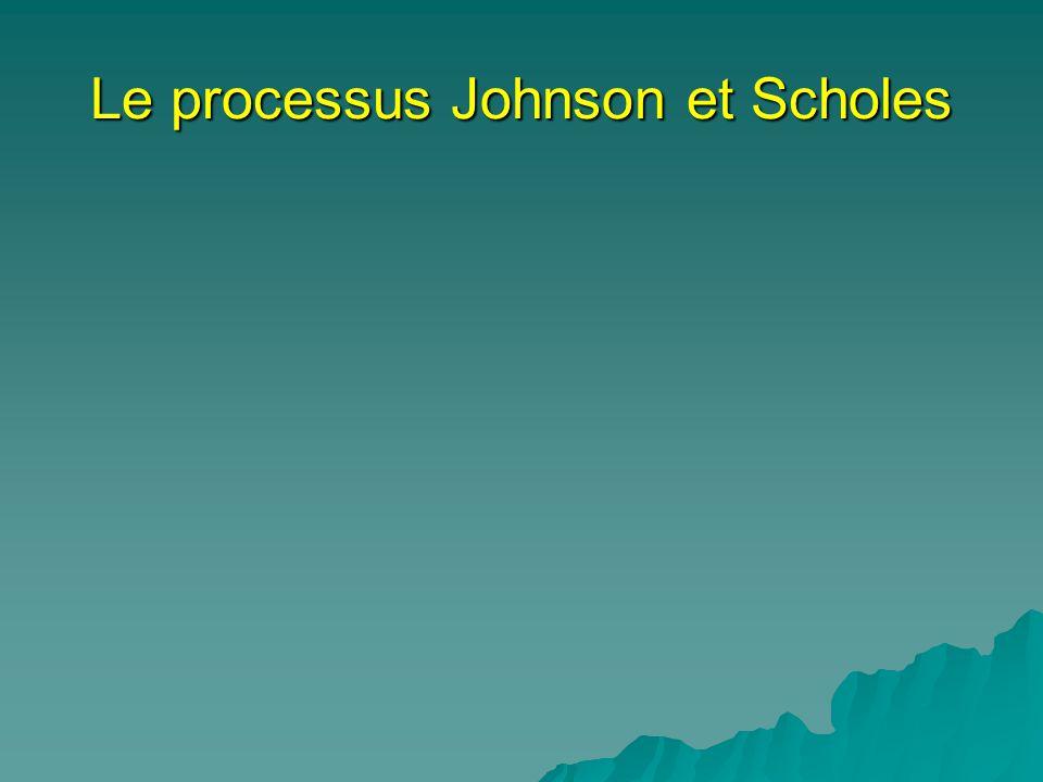 Le processus Johnson et Scholes