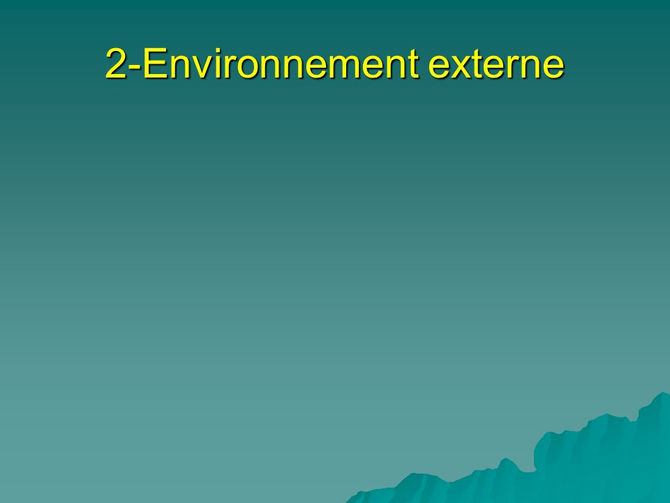 2-Environnement externe