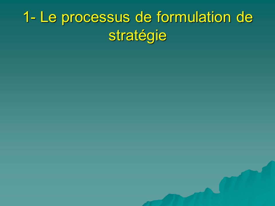 Processus stratégique classique (Arnoldo C.