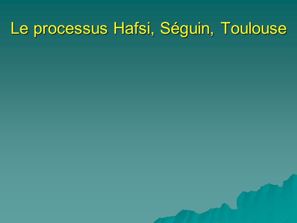 La formulation de stratégie (Hafsi, Séguin, Toulouse) Choix Finalité supérieure (vision/mission) Environnement (situation) Lorganisation (capacités internes) Dirigeants (valeurs et caractéristiques) Communauté (nature et préoccupation) Finalité spécifique (stratégie formulée) Quelle organisation sommes-nous.