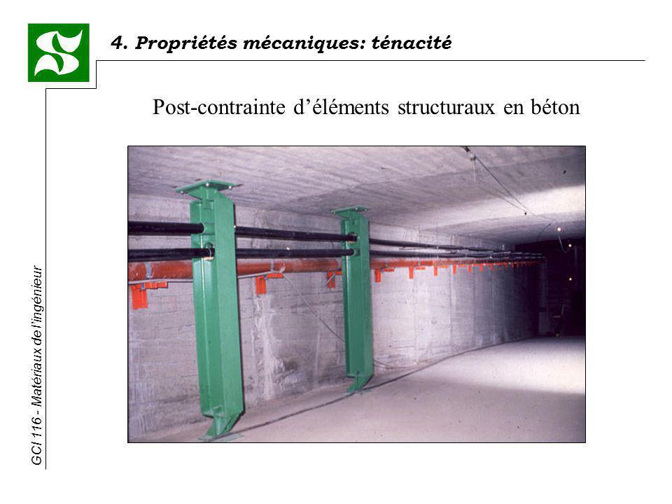 4. Propriétés mécaniques: ténacité GCI 116 - Matériaux de lingénieur Post-contrainte déléments structuraux en béton