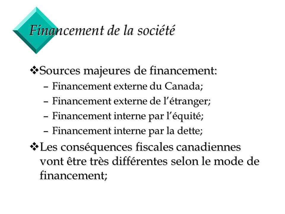 15 Financement de la société vSources majeures de financement: –Financement externe du Canada; –Financement externe de létranger; –Financement interne