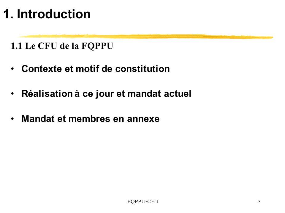 FQPPU-CFU34 5.3 La croissance de leffectif étudiant en équivalence au temps plein (EEETP) – Données financières en $ constants de 2006