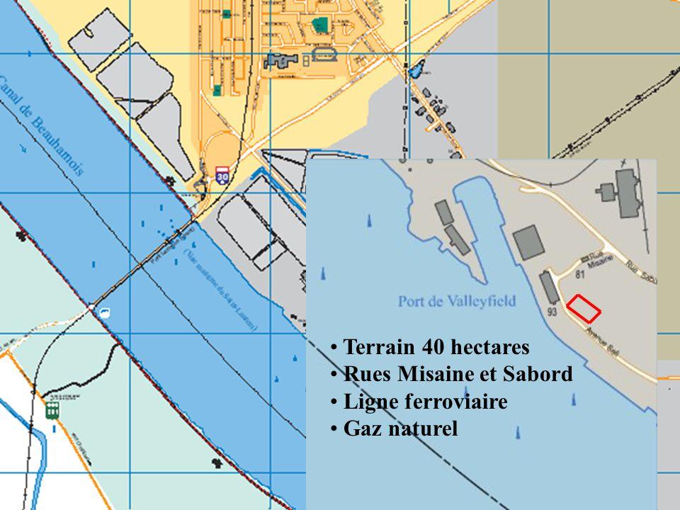 Terrain 40 hectares Rues Misaine et Sabord Ligne ferroviaire Gaz naturel