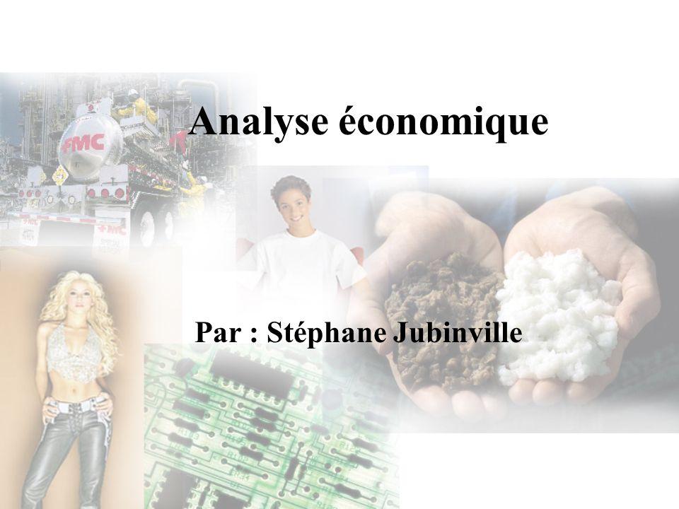 Analyse économique Par : Stéphane Jubinville