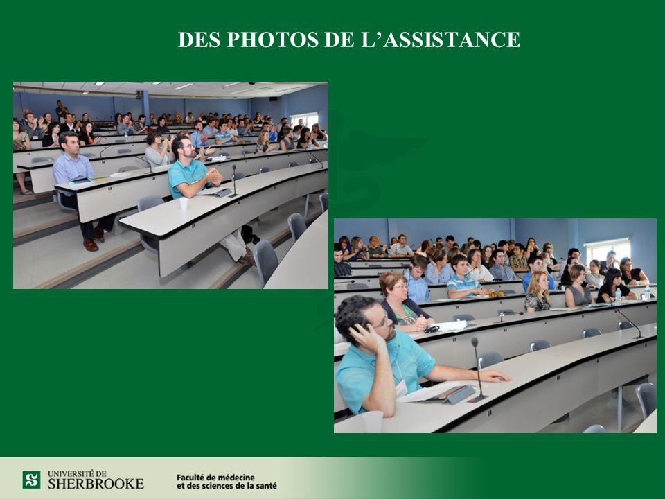 DES PHOTOS DE LASSISTANCE