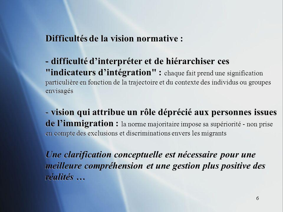 7 UNE PERSPECTIVE CONSTRUCTIVISTE Une conceptualisation constructiviste de la rencontre des cultures, à travers lacculturation de M.