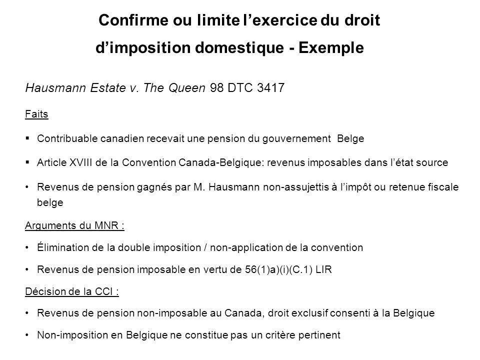 16 1956Convention fiscale Canada-Allemagne 1956Selon LIR: frais de garantie intérêt (214(15)a) était inexistant) –profits dune entr.