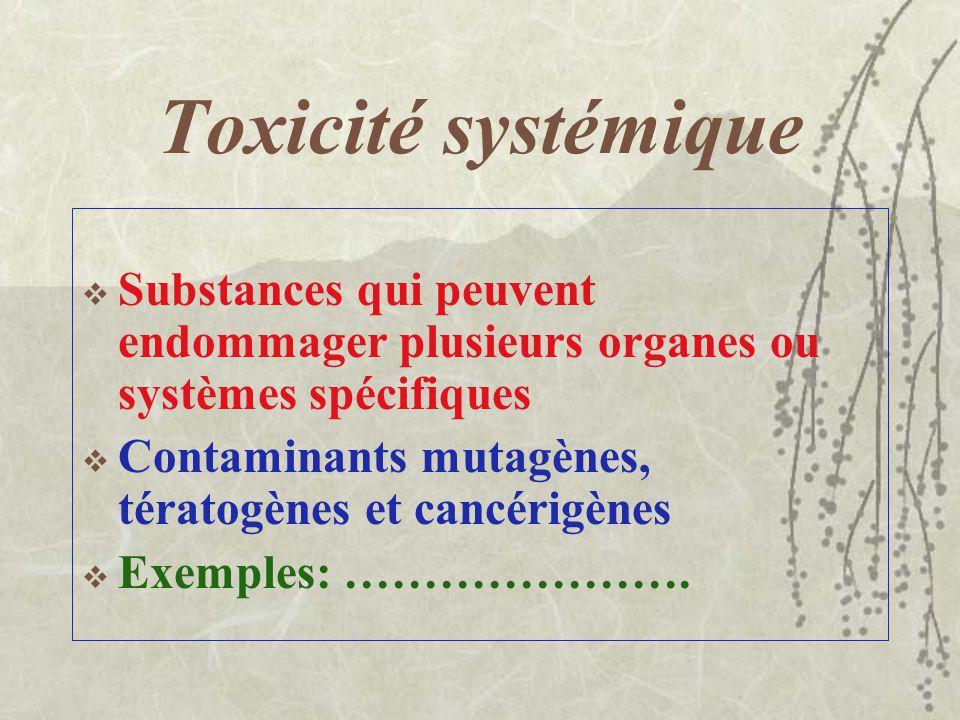 Anesthésiques et narcotiques Dépresseurs du système nerveux central La plupart des solvants sont des anesthésiques et des narcotiques Voir tableau 3.3