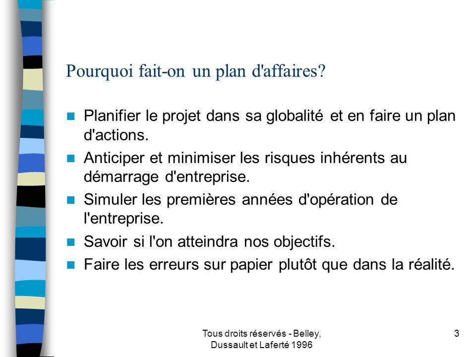 Tous droits réservés - Belley, Dussault et Laferté 1996 4 P.O.D.C.??.