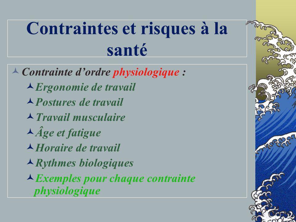 Plusieurs disciplines Chimie Biologie Physique Médecine, épidémiologie, toxicologie Ergonomie Statistiques Génie