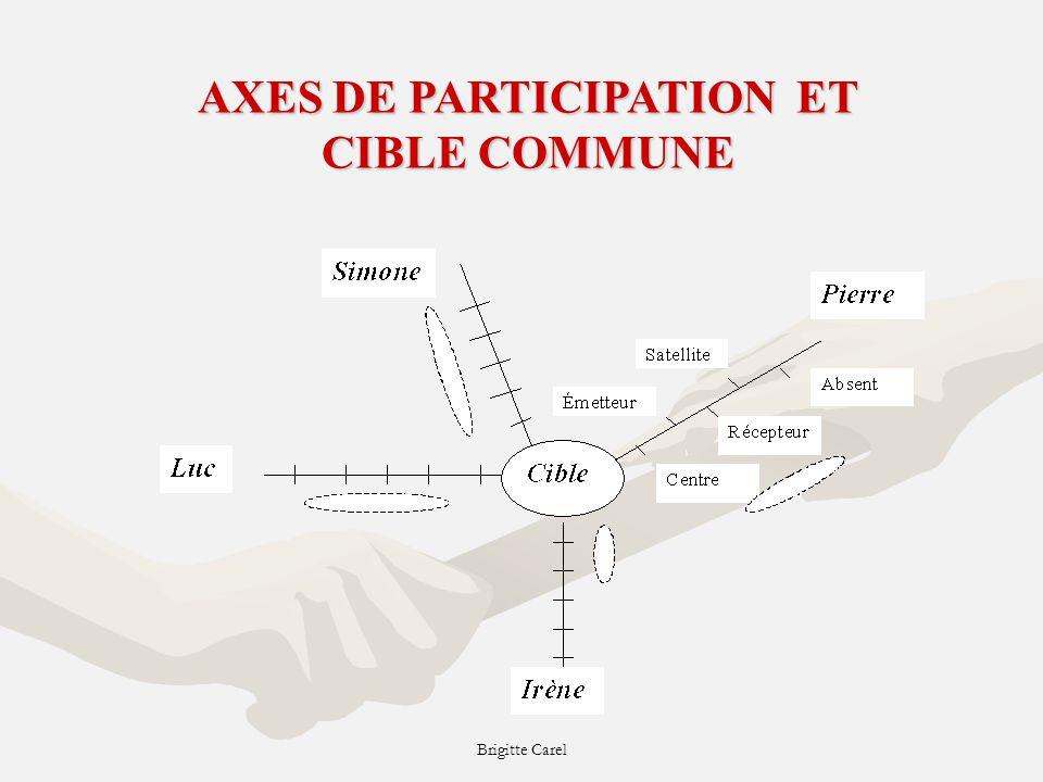 Brigitte Carel AXES DE PARTICIPATION ET CIBLE COMMUNE