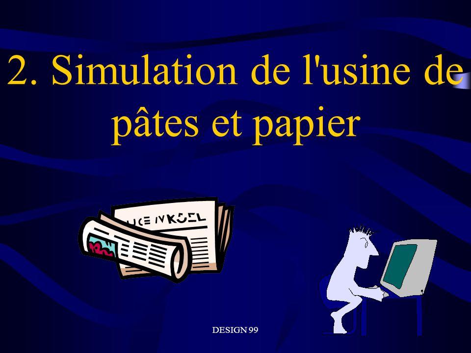 DESIGN 99 2. Simulation de l usine de pâtes et papier
