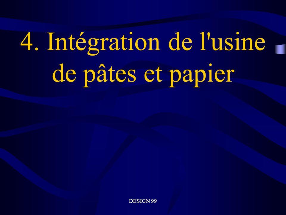 DESIGN 99 4. Intégration de l usine de pâtes et papier