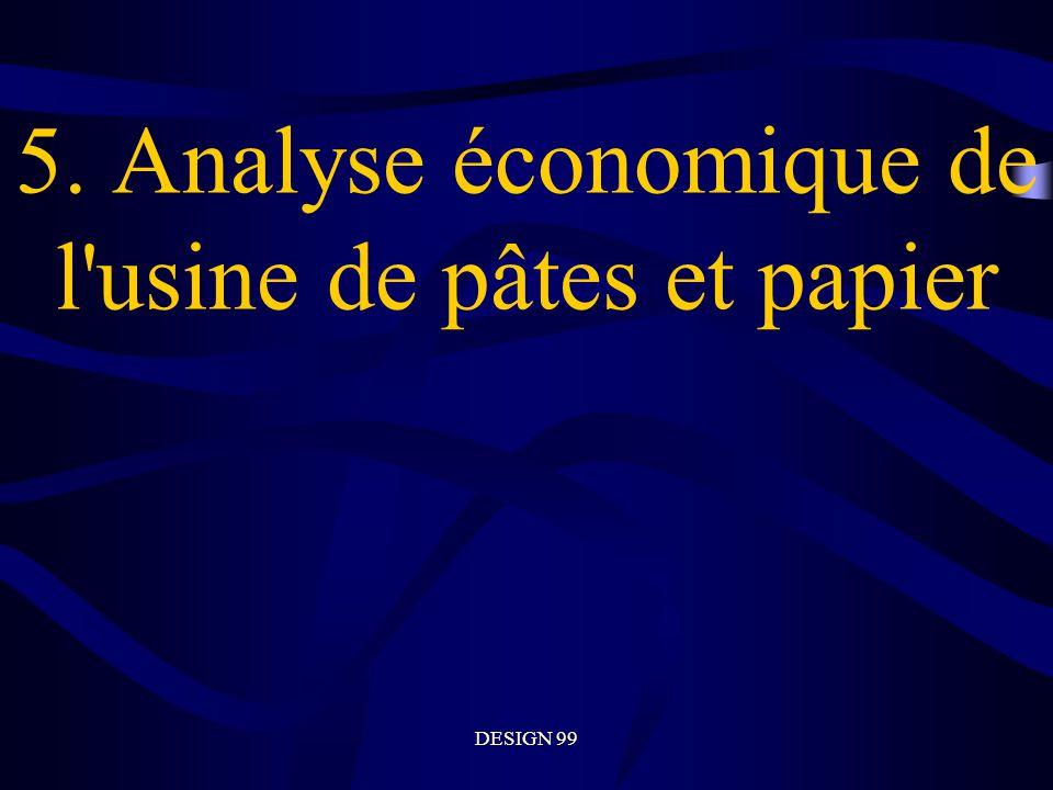 DESIGN 99 5. Analyse économique de l usine de pâtes et papier