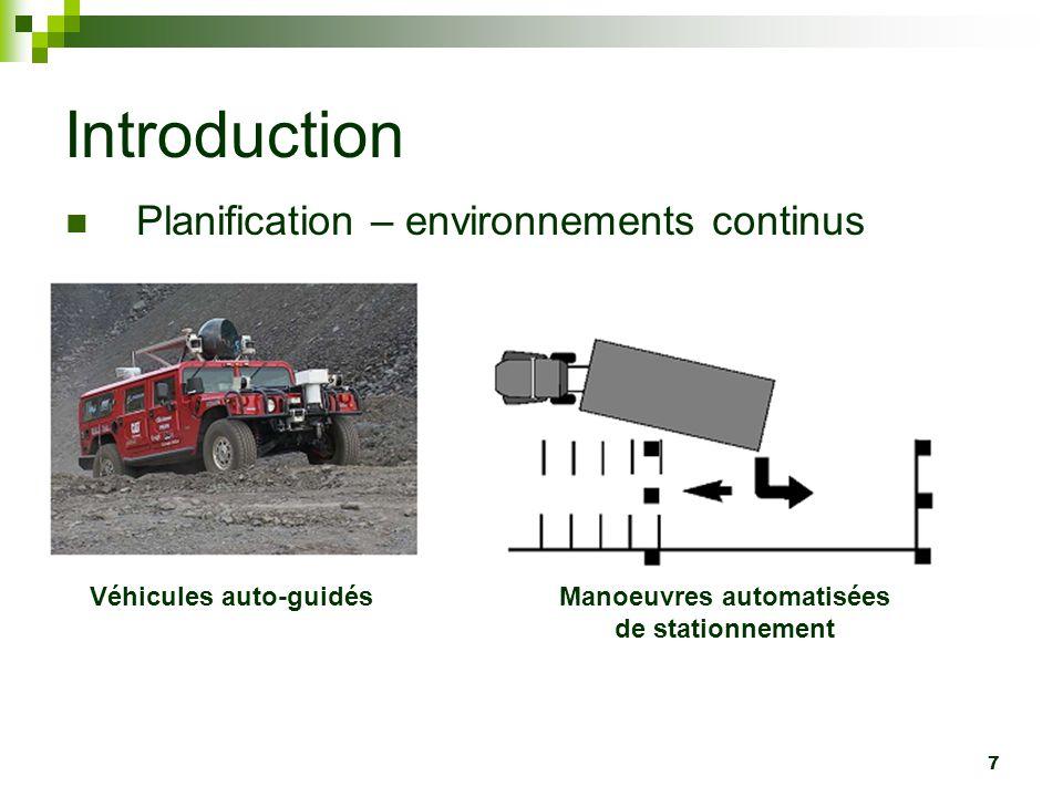 8 Introduction Planification – environnements continus FilmsJeux