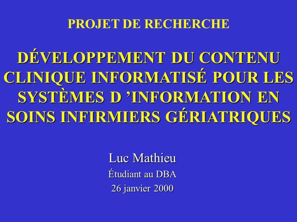 PLAN DE LA PRÉSENTATION 1.Problématique de recherche; 2.