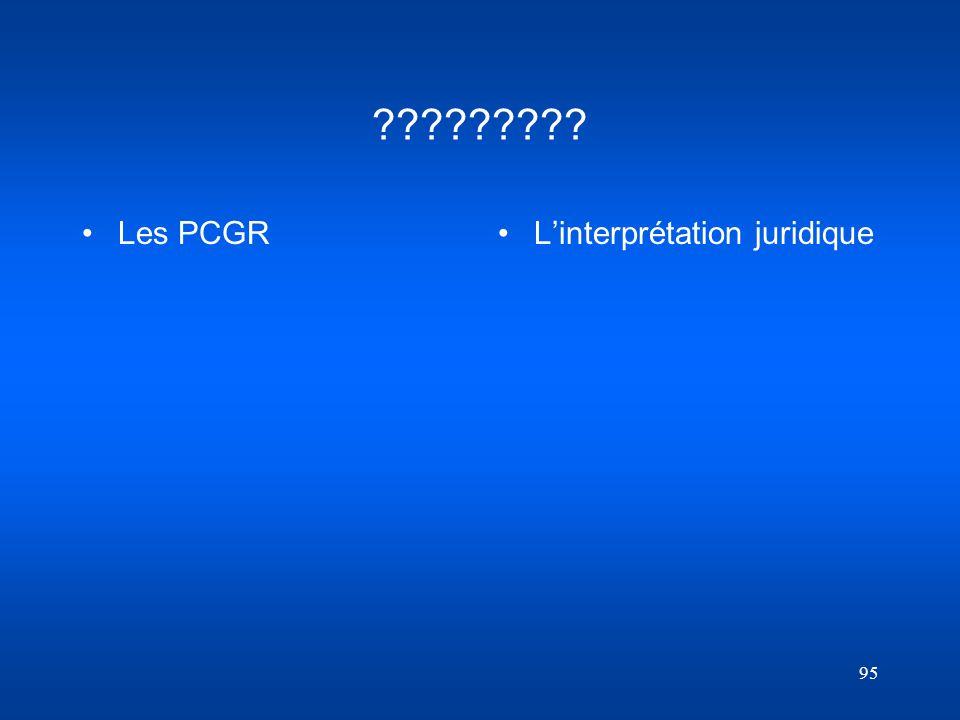 95 ????????? Les PCGR Linterprétation juridique