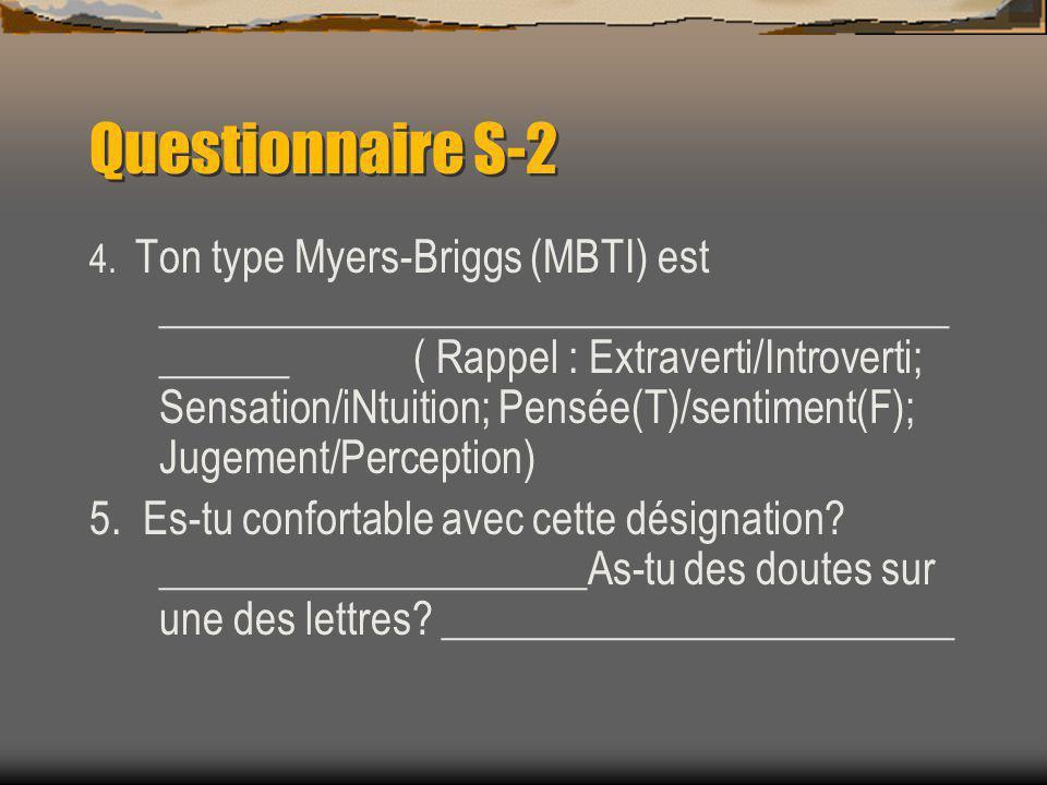 Questionnaire S-2 4.