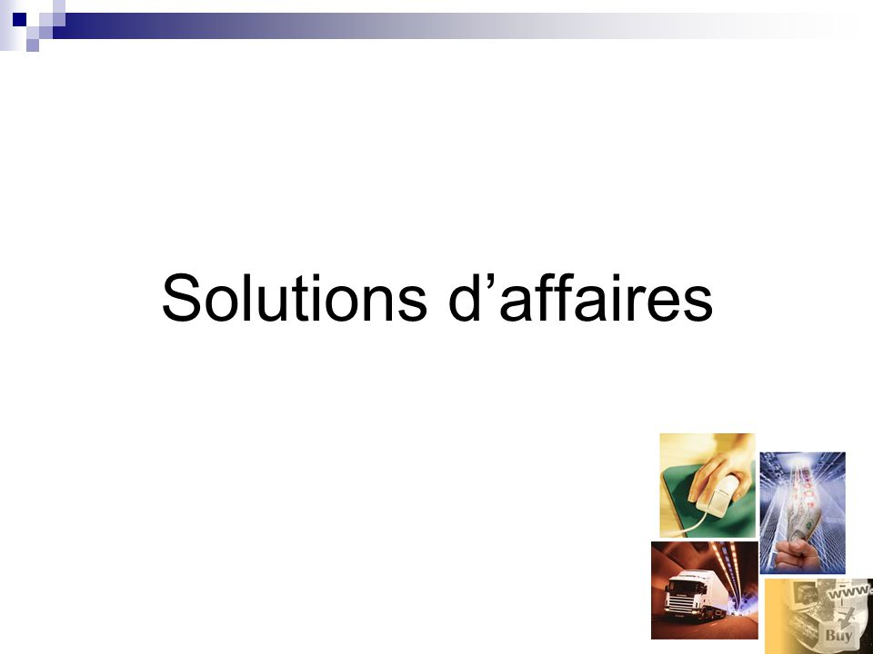 Solutions daffaires