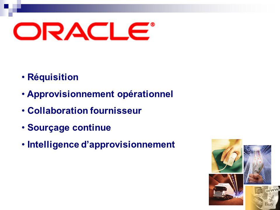 Réquisition Approvisionnement opérationnel Collaboration fournisseur Sourçage continue Intelligence dapprovisionnement