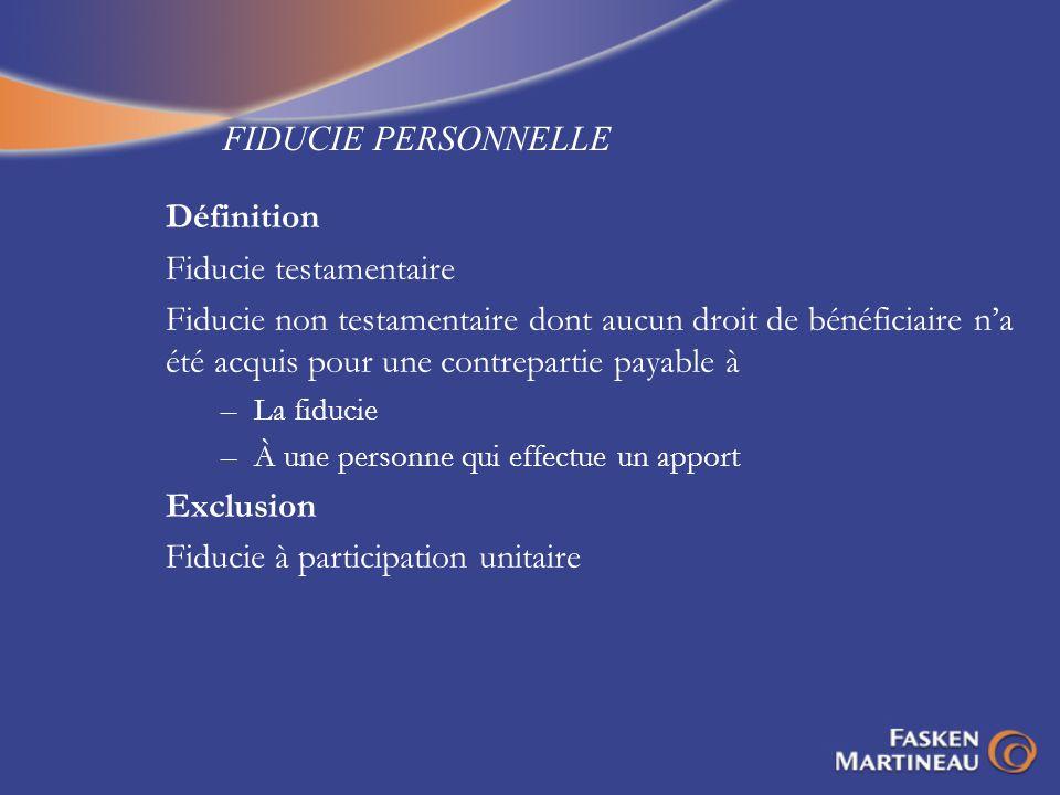 RÈGLE DE LINTÉRÊT RÉPUTÉ - EXEMPLE 2 (SUITE) PREMIER APPEL PUBLIC APRÈS Fiducie Discrétionnaire Fiducie Discrétionnaire PUBLIC Public Mme X Enfants de M.