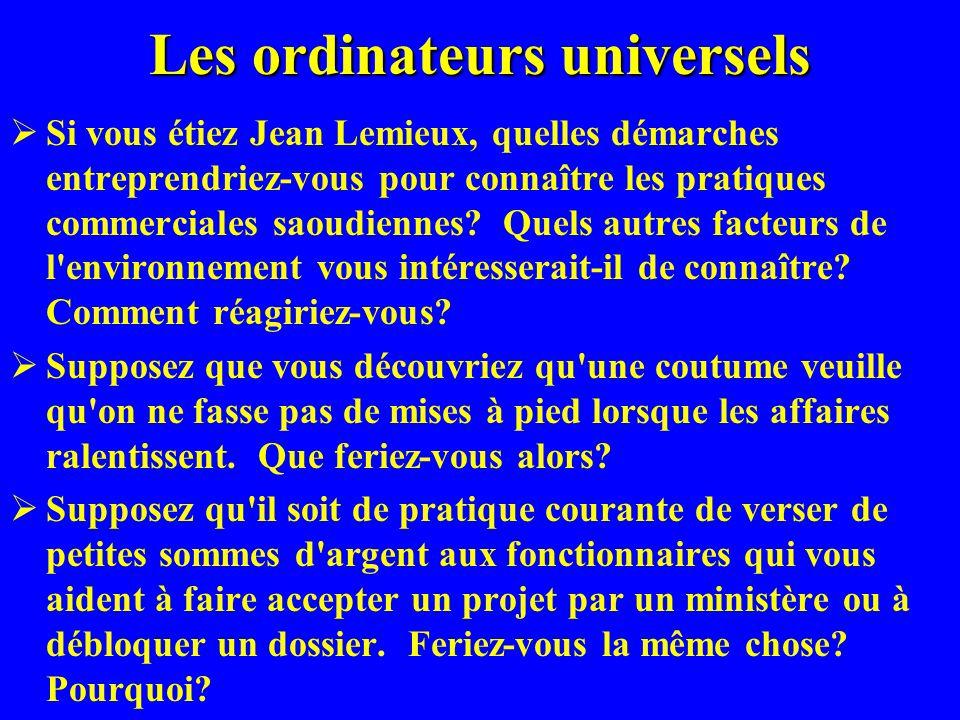 Réponses, Q1 Réponses, Q1 Si vous étiez Jean Lemieux, quelles démarches entreprendriez-vous pour connaître les pratiques commerciales saoudiennes.
