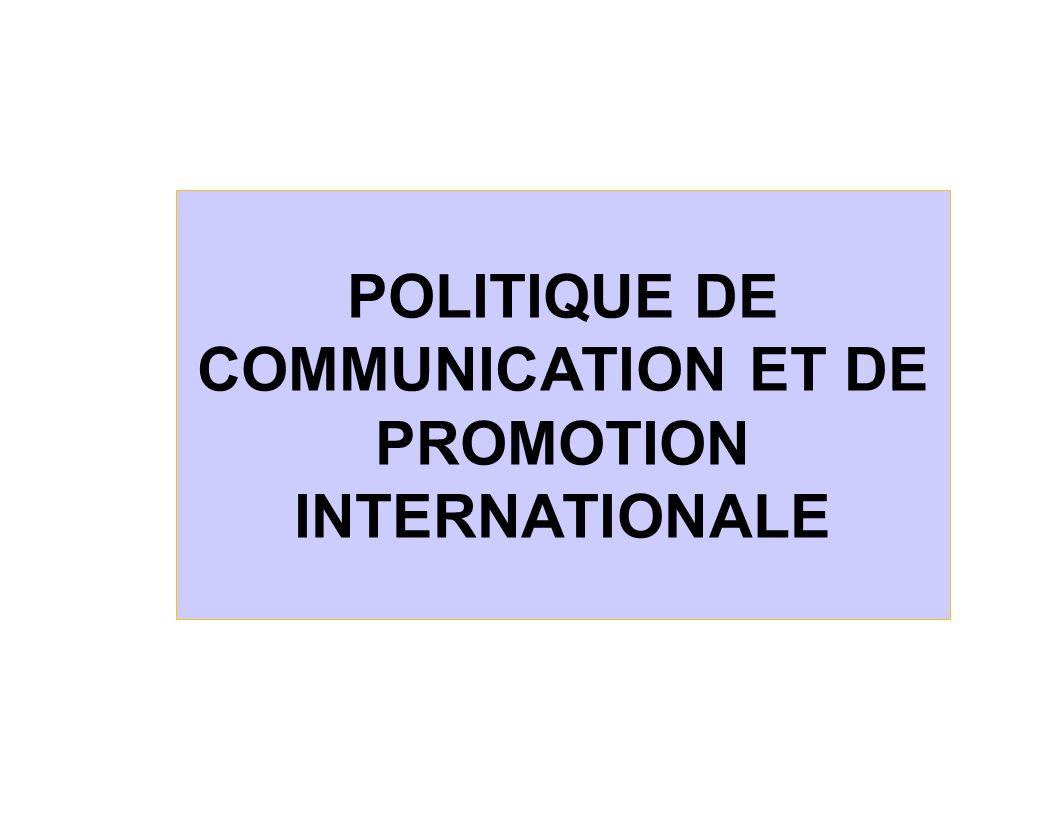 La communication et la promotion internationale, un domaine qui relève à la fois de la stratégie et de l action commerciale L objectif fondamental à atteindre l s inscrit dans celui du choix d un positionnement corporatif, de marque ou de produit Dans une optique de communication et d action internationale, une décision stratégique majeure concerne l approche: globale ou locale .