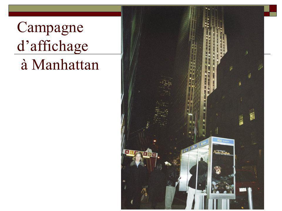 Campagne daffichage à Manhattan