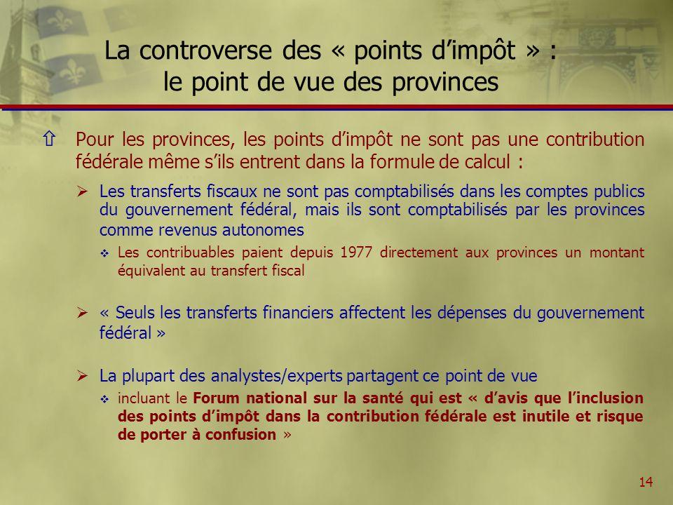 15 Le TCSPS : les fiducies fédérales Les fiducies fédérales au Québec (en millions de dollars) 1999-2000 2000-2001 2001-2002 2002-2003 2003-04 Total Calendrier suggéré par le fédéral Fiducie 1 : budget 1999, 3,5 MM$ 480240120840 Fiducie 2 : budget 2000, 2,5 MM$238119119119596 Fiducie 3 : sept.