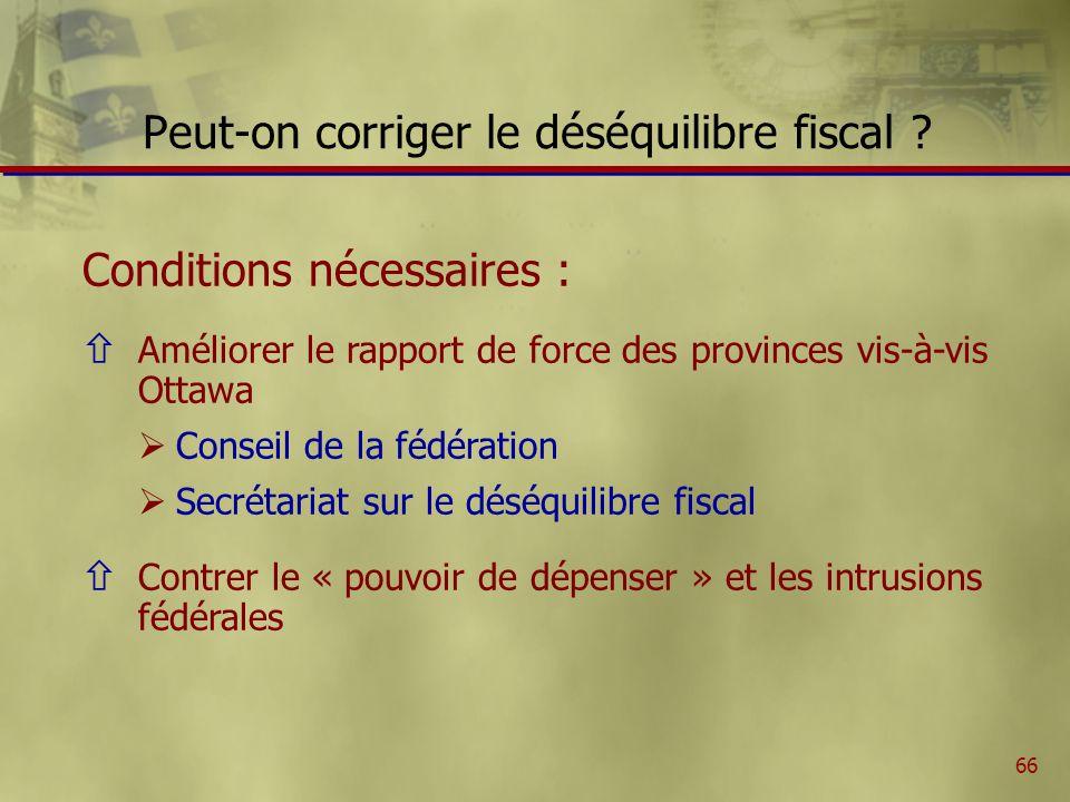 66 Peut-on corriger le déséquilibre fiscal .
