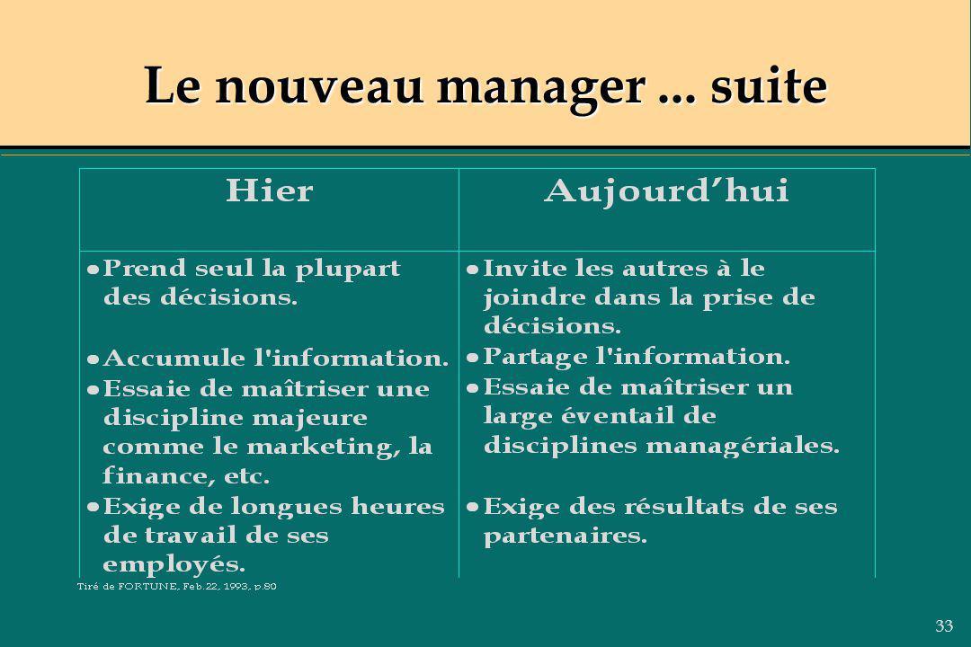 33 Le nouveau manager... suite