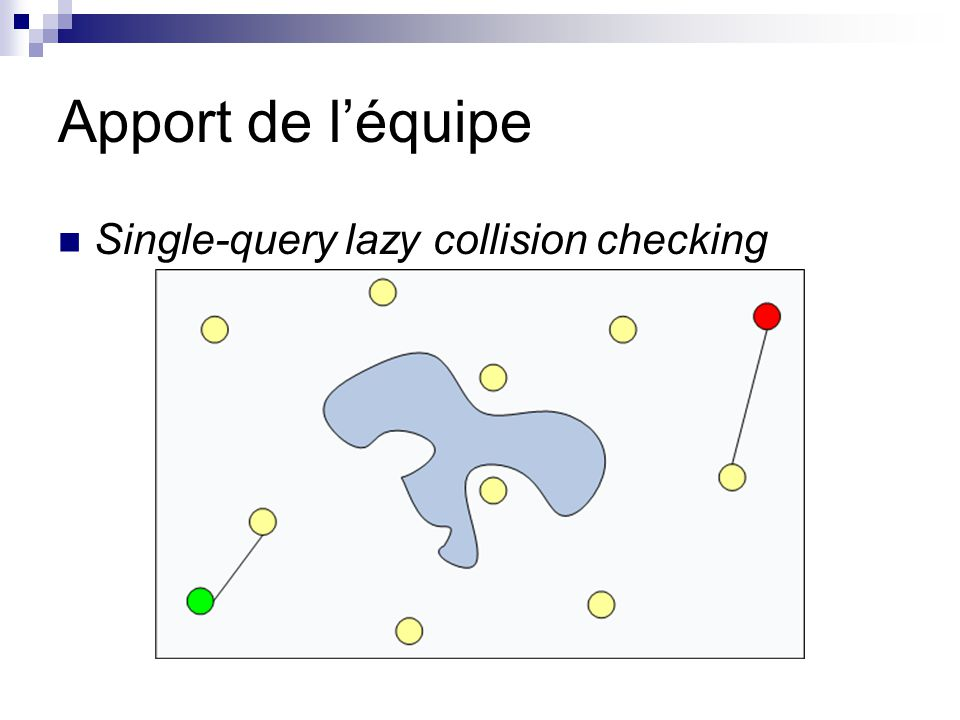 Apport de léquipe Single-query lazy collision checking