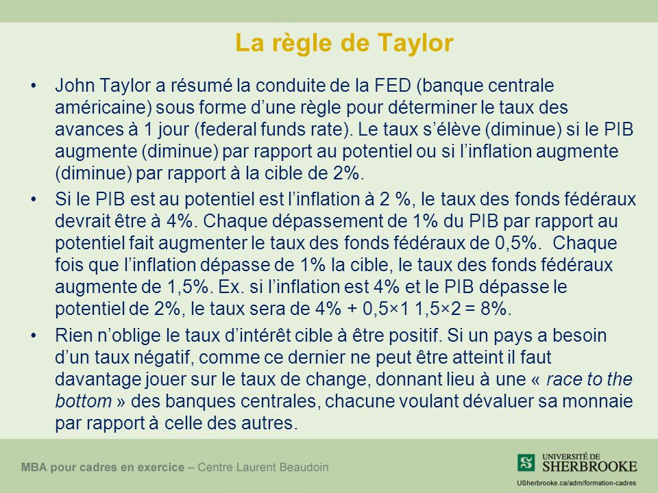 Règle de Taylor sur une carte daffaire Source : http://www.stanford.edu/~johntayl/BusinessCard.htm