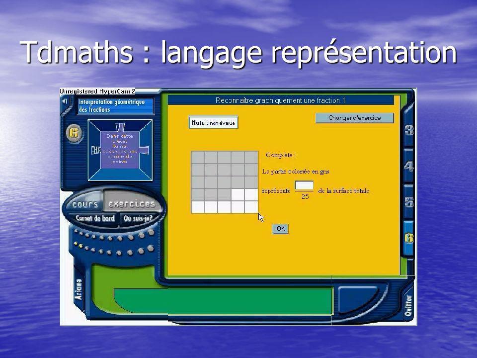 Tdmaths : langage représentation