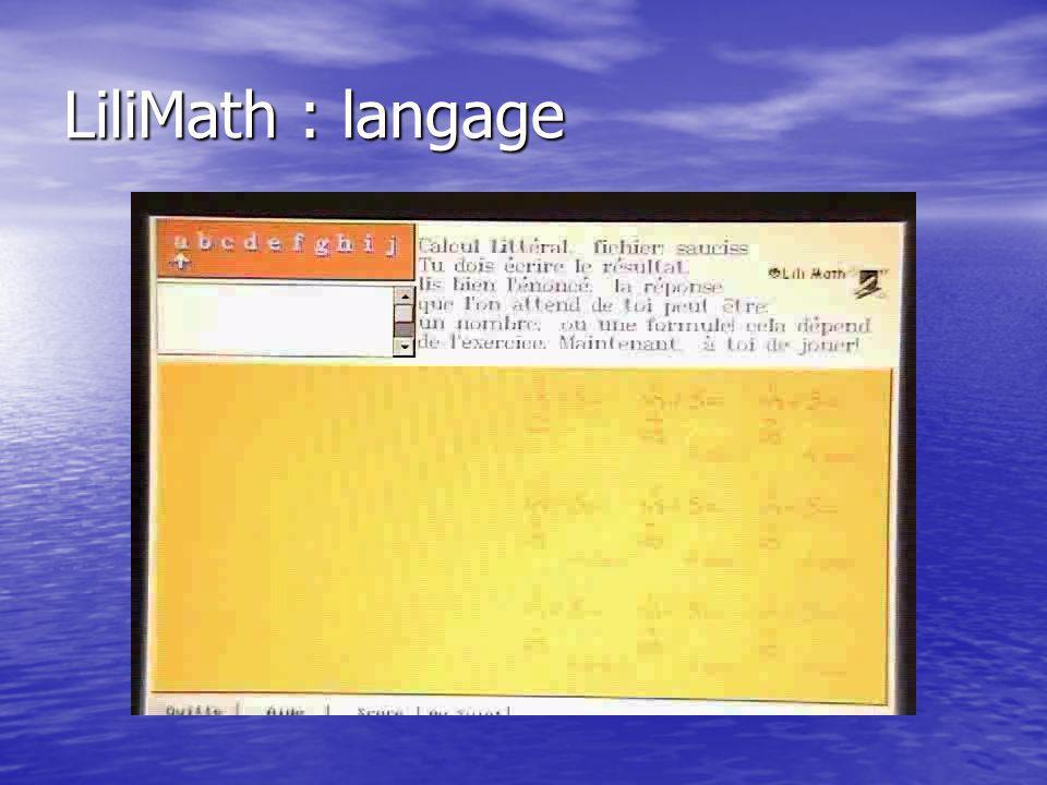 LiliMath : langage