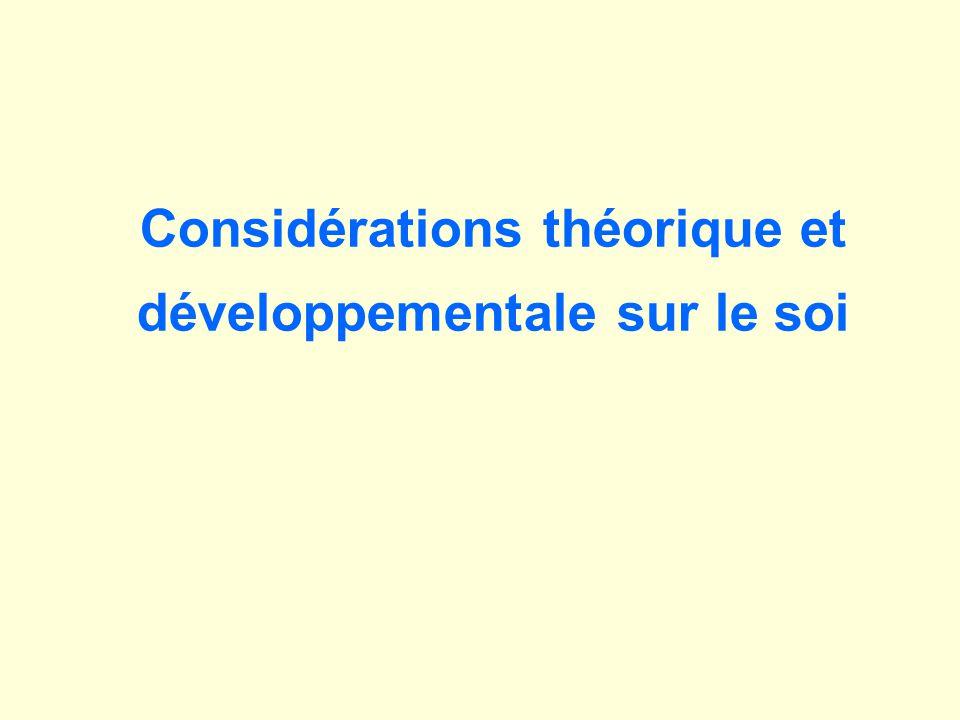 Considérations théorique et développementale sur le soi