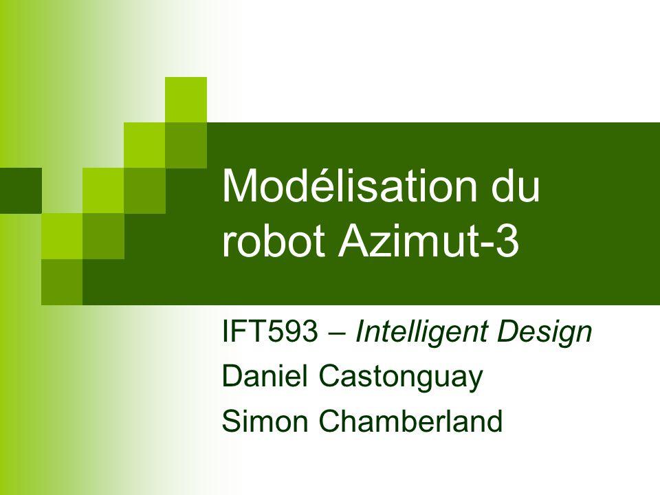 Modélisation du robot Azimut-3 IFT593 – Intelligent Design Daniel Castonguay Simon Chamberland