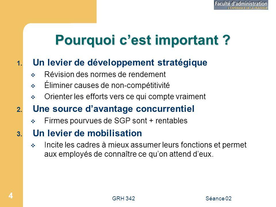GRH 342Séance 02 4 Pourquoi cest important .1.