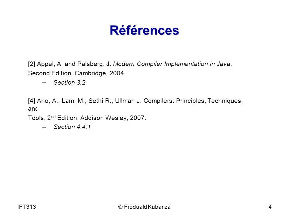 Observations Il est très facile décrire un analyseur syntaxique récursif manuellement.