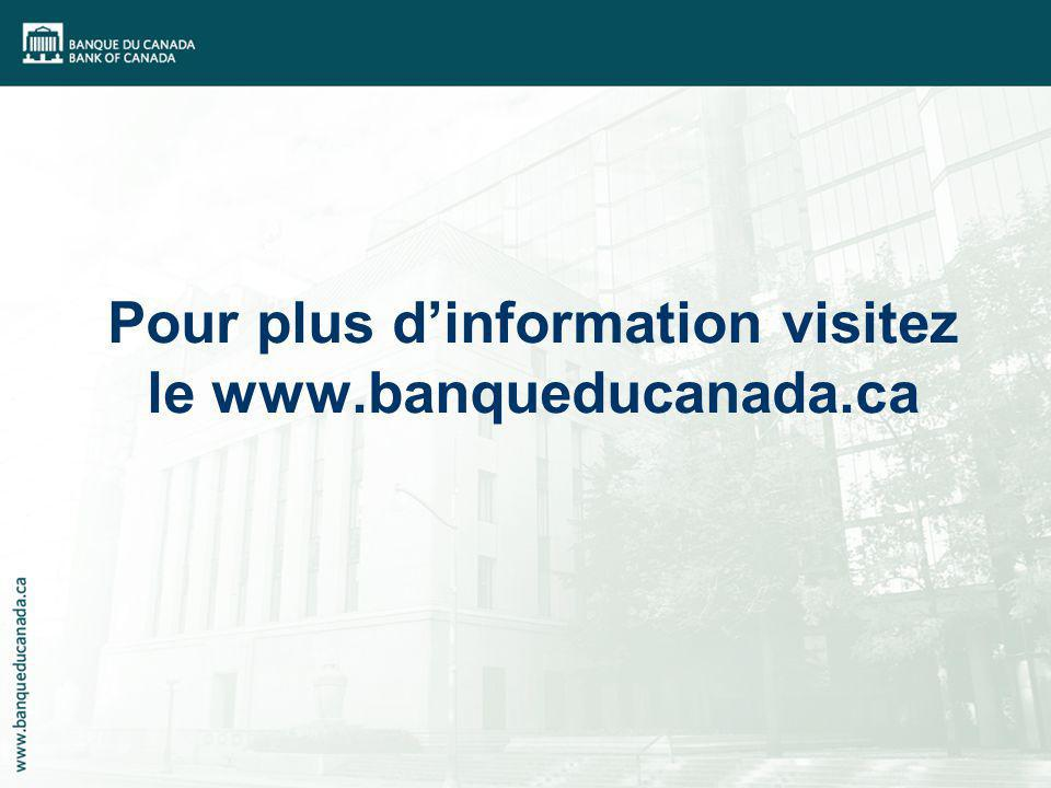 Pour plus dinformation visitez le www.banqueducanada.ca
