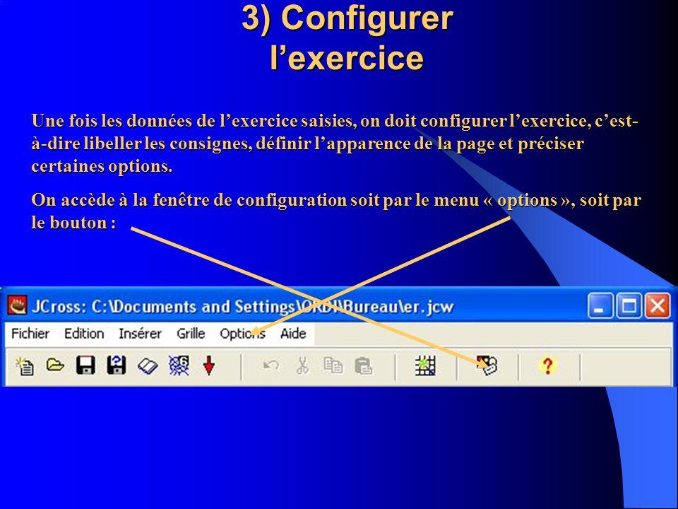 4 ) Enregistrer fichier générateur Par le menu « fichier » ou licône correspondante 5 ) Editer + enregistrer fichier exercice Par le menu « fichier » ou licône correspondante