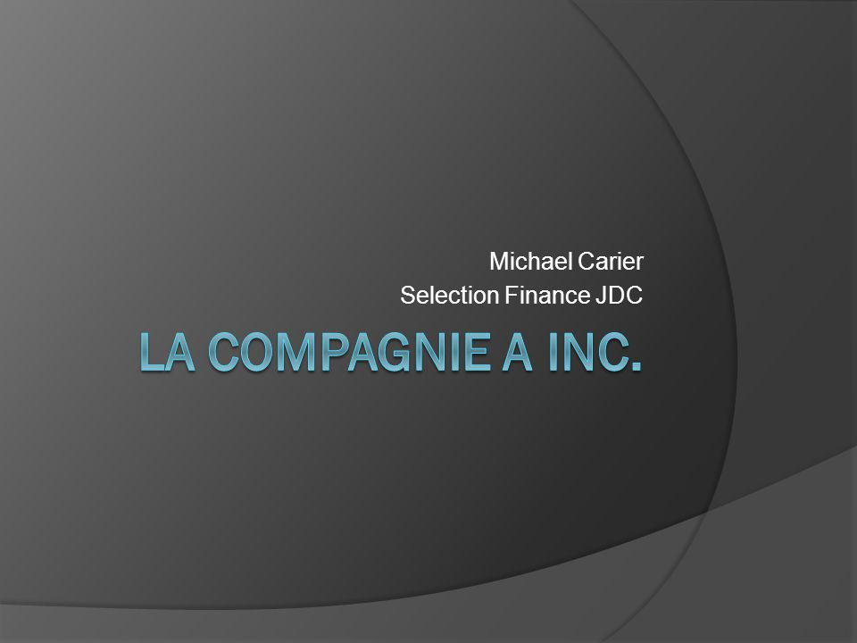Michael Carier Selection Finance JDC