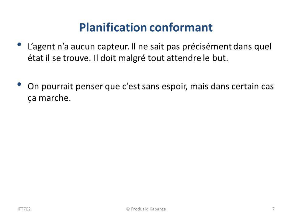 Planification conformant Lagent na aucun capteur.