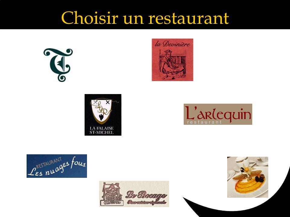 Choisir un restaurant