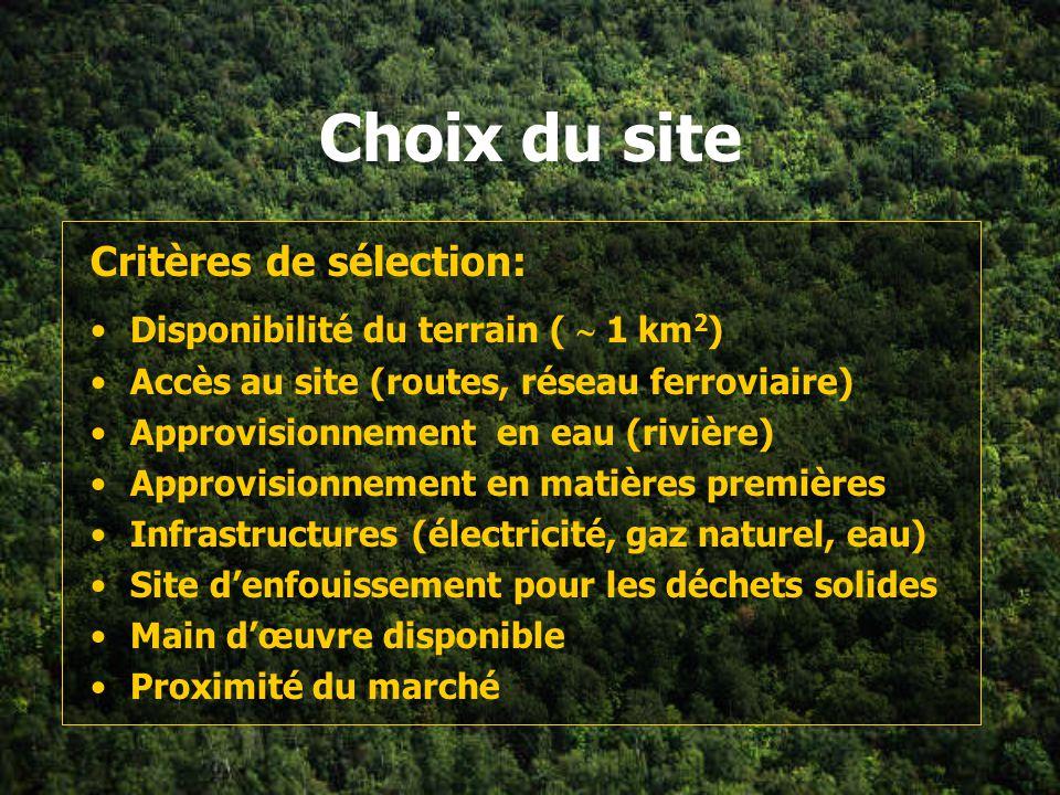 Introduction Objectifs: Évaluer trois sites dans deux régions –retenir le meilleur site de chaque région Évaluer les impacts sur l environnement que c